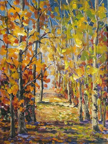 Elaine Tweedy - Autumn Tapestry, Clifford E. Lee Sanctuary (SOLD)