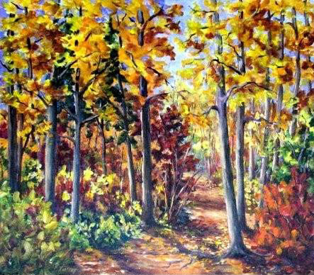 Elaine Tweedy - Glorious Colours of Fall, Pembina Provincial Park, AB (SOLD
