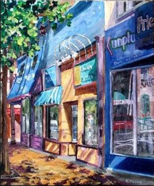 Elaine Tweedy - Summer Morning on Whyte     (SOLD)