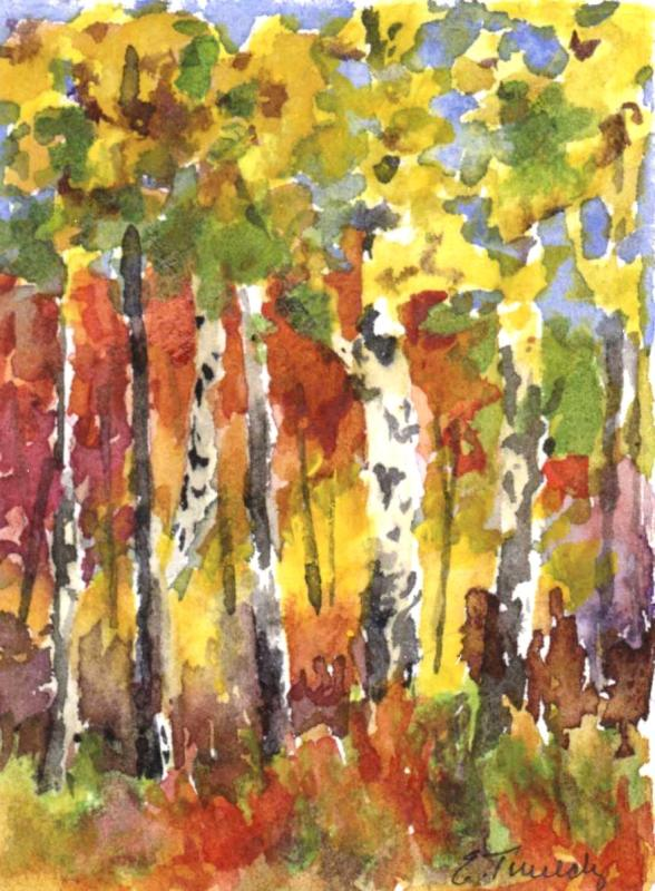 Elaine Tweedy - Miniature Fall Landscape IV (SOLD)