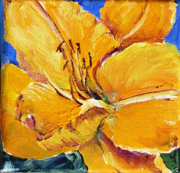 Elaine Tweedy - Yellow Daylily (SOLD)