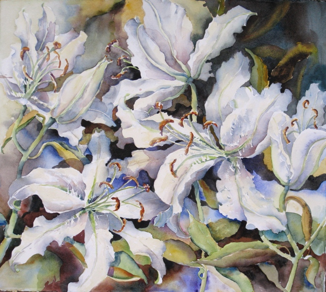 Elaine Tweedy - Breathtaking - the Casa Blanca Lily (SOLD)