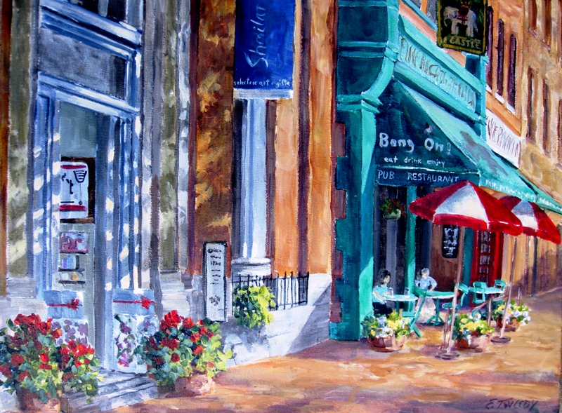 Elaine Tweedy - Whyte Avenue, Summer Shadows