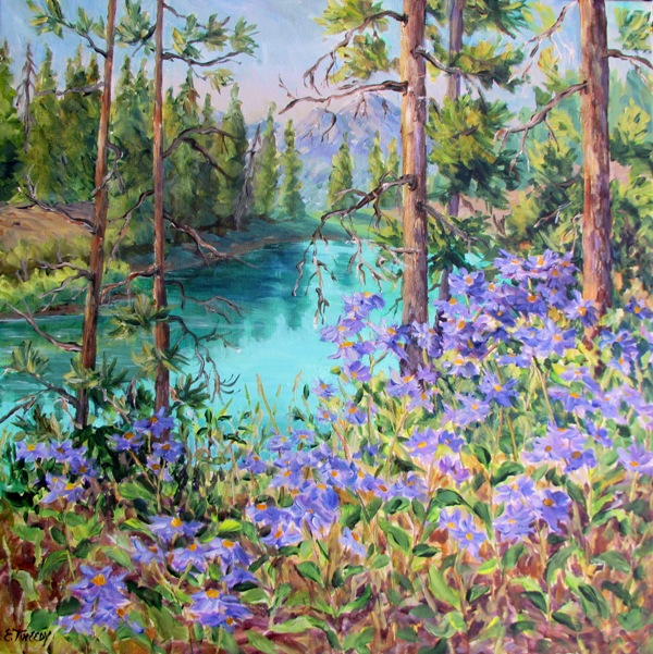Elaine Tweedy - Valley of Five with Summer Asters (SOLD)