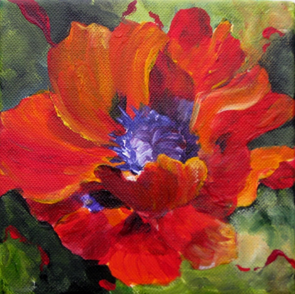 Elaine Tweedy - Red Oriental Poppy (SOLD)