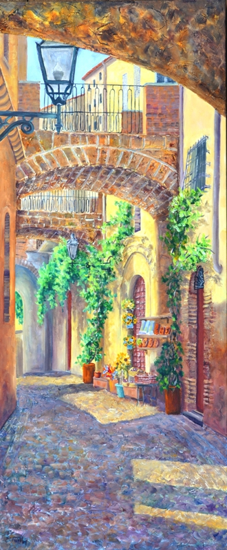 Elaine Tweedy - Arches in Orvieto (SOLD)