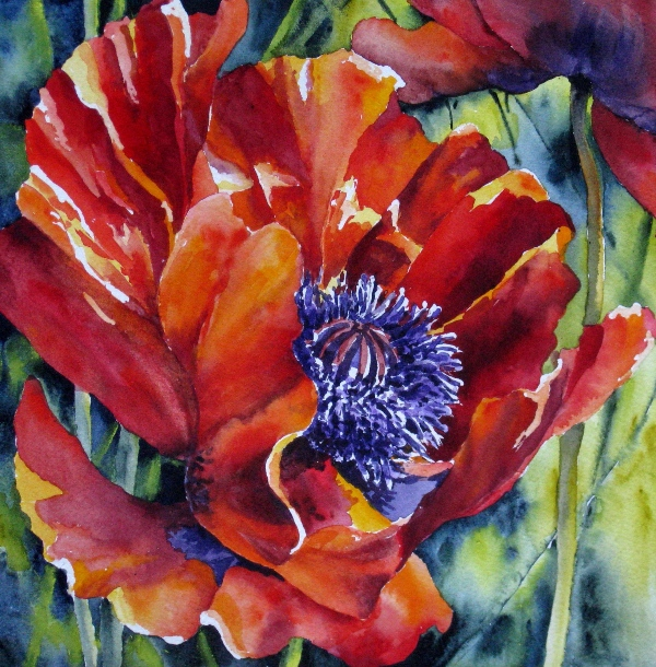 Elaine Tweedy - Oriental Poppy II (SOLD)