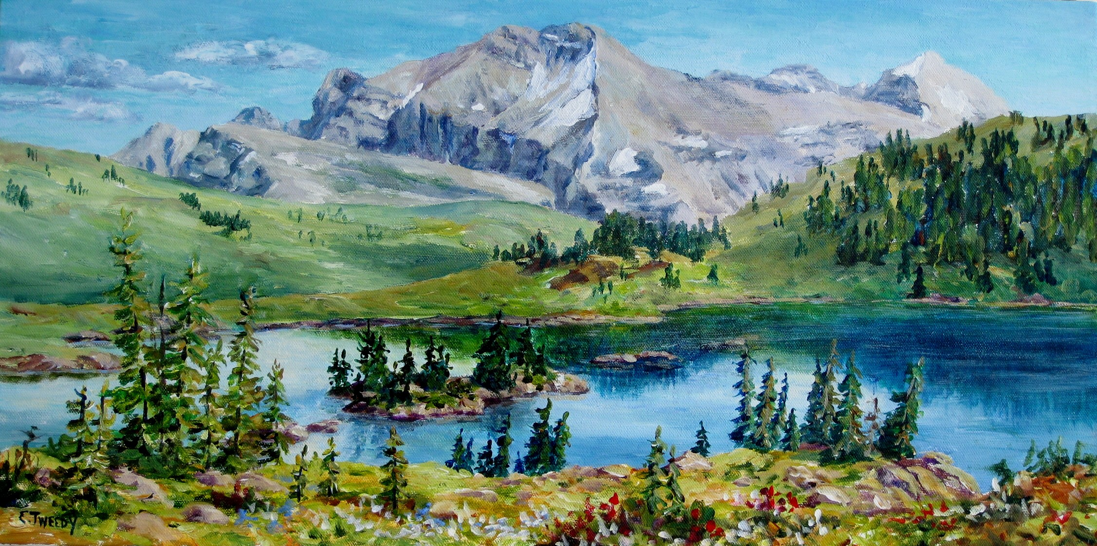 Elaine Tweedy - Rock Isle Lake, Across the Great Divide (SOLD)