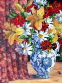 Elaine Tweedy - Vase with Summer Flowers (SOLD)