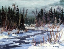 Elaine Tweedy - Around the River Bend (SOLD)