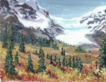 Elaine Tweedy - Overlooking Columbia Icefields (SOLD)
