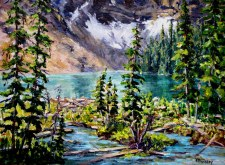 Elaine Tweedy - Rawson Lake Below Mt. Sarrail