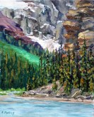 Elaine Tweedy - Foot of Mt. Lefroy, Lake Louise (SOLD)