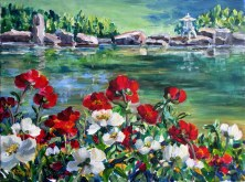 Elaine Tweedy - Peony's at the Devon Botanic Garden (SOLD)