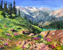 Elaine Tweedy - The Valley Beyond from Sunshine Meadows (SOLD)