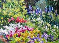 Elaine Tweedy - Garden in the Park, Banff (SOLD