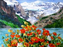 Elaine Tweedy - Louise Poppies & Mt. Victoria (sold)