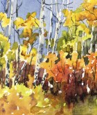 Elaine Tweedy - Miniature Fall Landscape I (SOLD)