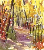 Elaine Tweedy - Miniature Fall Landscape II (SOLD)