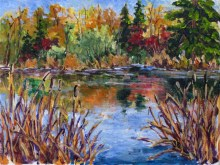 Elaine Tweedy - Along the Battle River (SOLD)