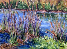 Elaine Tweedy - Cattails Along the Battle River