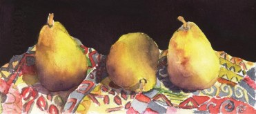 Elaine Tweedy - Three Yellow Pears (SOLD)