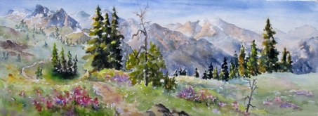 Elaine Tweedy - Meadow, Vallery and Peaks (SOLD)