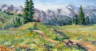 Elaine Tweedy - Beyond the Meadow, Sunshine Meadows (SOLD)