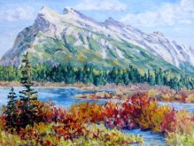 Elaine Tweedy - Mt. Rundle in September
