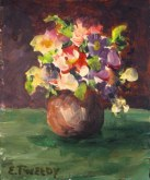Elaine Tweedy - Miniature Pansy (SOLD)