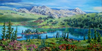 Elaine Tweedy - Rock Isle Lake, Sunshine Valley, Banff National Park, AB