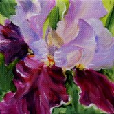 Elaine Tweedy - Purple Iris (SOLD)