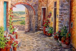 Elaine Tweedy - Cobblestones of Cortona, Tuscany (Not for Sale)