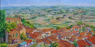 Elaine Tweedy - Tuscany Horizon from Montalcino (SOLD)