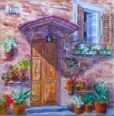 Elaine Tweedy - A Doorway in Tuscany