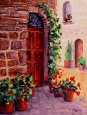 Elaine Tweedy - Doorway in Tuscany (SOLD)