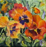 Elaine Tweedy - Pansies 'Pumpkin' (SOLD)