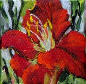 Elaine Tweedy - Happy Collection Red/Orange Day Lily (SOLD)