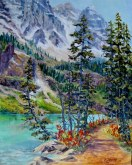Elaine Tweedy - Trail Around Lake Louise