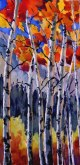 Elaine Tweedy - Poplar in Evening Light (SOLD